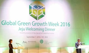 The Global Green Growth Week addressed obstacles to sustainable development at the conference on Jeju Island, South Korea.