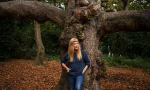 Film director Andrea Arnold photographed in Oxleas Wood, south London
