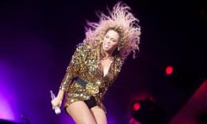 Beyoncé on the Pyramid stage.