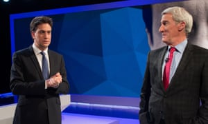 Ed Miliband and Jeremy Paxman