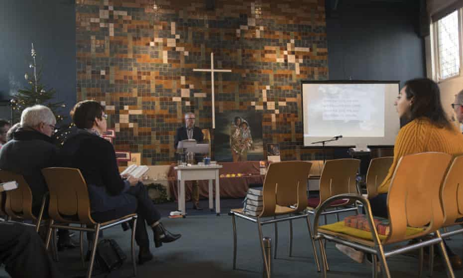 A service inside the Bethel chapel in The Hague