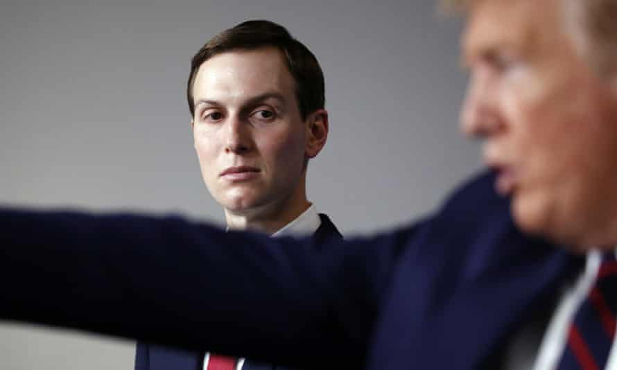 Jared Kushner and Donald Trump at the White House in April.