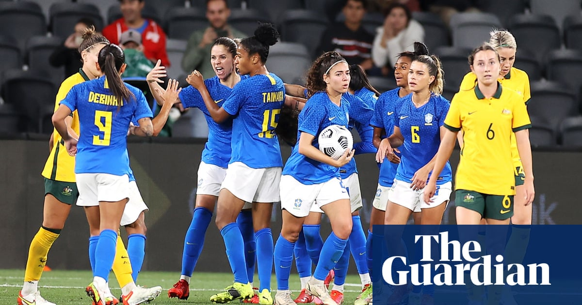 Matildas let slip two-goal lead as Brazil fight back in thrilling draw