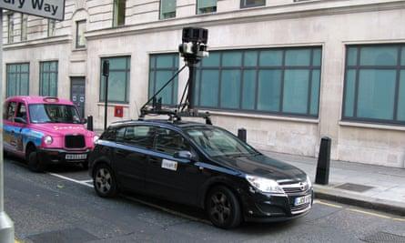 A Google Street View camera car waits at a light in London, 2008.