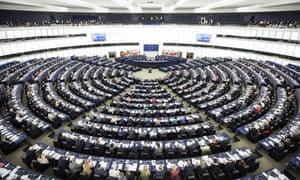 Te European parliament in Strasbourg