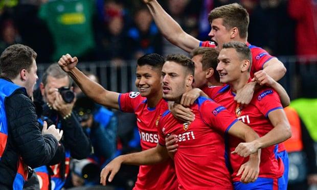 oslava hráčů CSKA