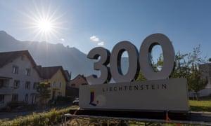 Liechtenstein celebrates its 300 birthday 2019.