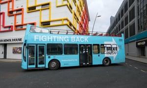The Brexit party campaign bus.