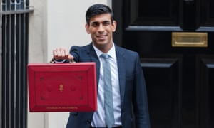 Rishi Sunak outside Downing Street before delivering his budget.