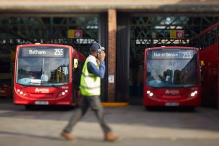 Thornton Heath bus depot.