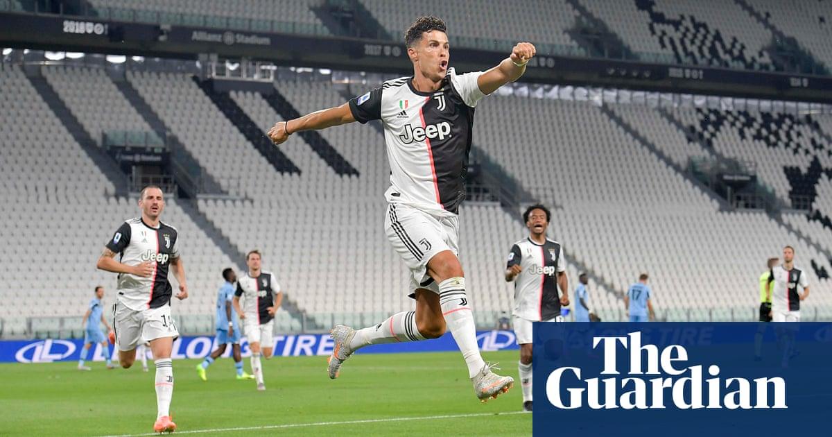 Juventus close on ninth straight title as Cristiano Ronaldo double defeats Lazio