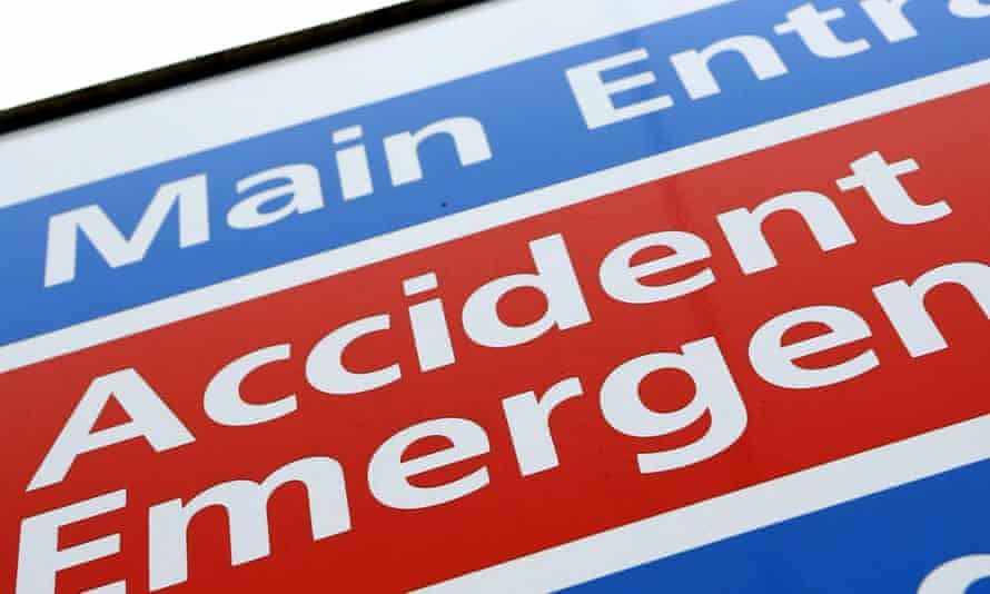 A&E hospital department sign