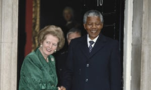 Margaret Thatcher eventually met with Nelson Mandela at 10 Downing Street on 4 July 1990 after a long buildup.