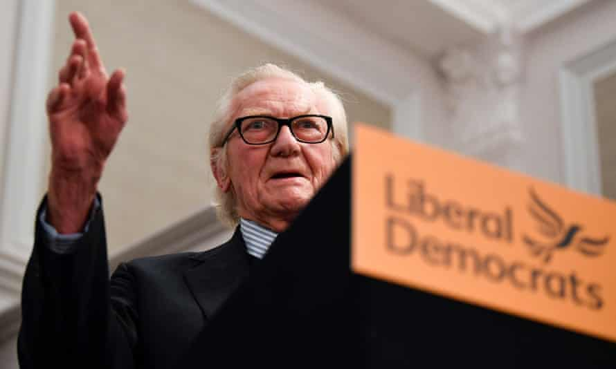 Michael Heseltine at the Lib Dem campaign event in London