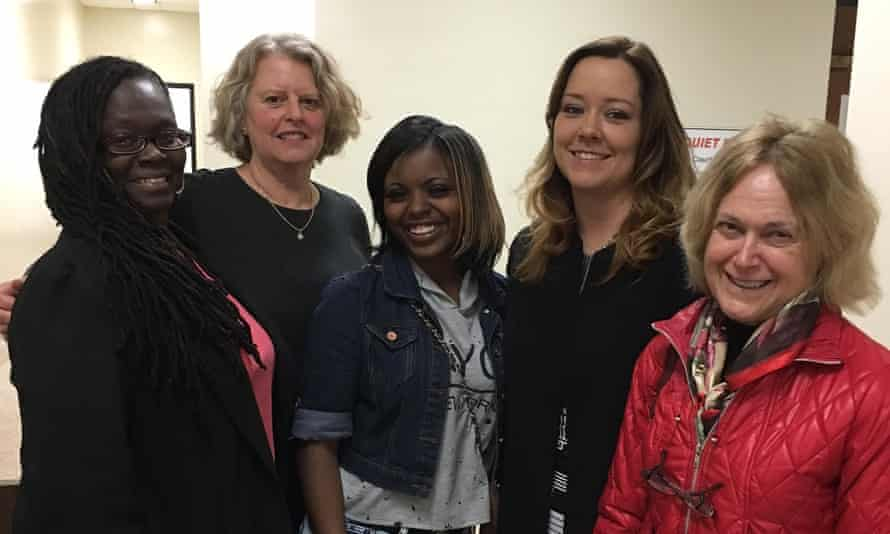 Jeannetta Maclin, center, with, from left to right: Yvette Goods, Pam Ross, Stephanie Lummus and Marcia Cline.