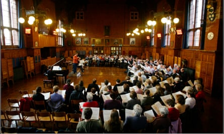 Stuck in limbo ... the Hallé Choir's amateur singers perform with some of the best professional orchestras in the world.