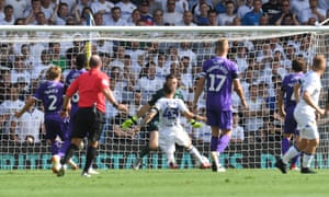 Mateusz Klich scores the opening goal for Leeds at Elland Road.