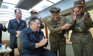 North Korean Central News Agency photo