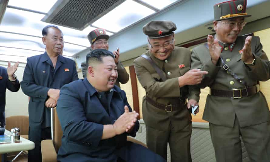 North Korean Central News Agency photo