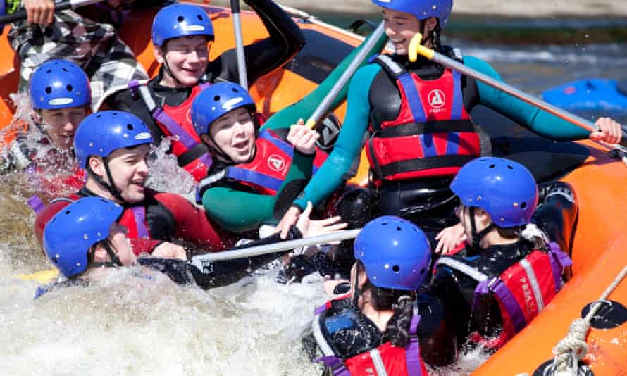 White water rafting at National Water Sports Centre, Holme Pierrepont
