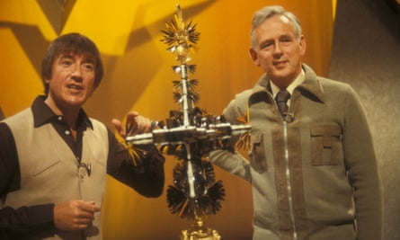 McWhirter with Roy Castle on Record Breakers. Photograph: BBC