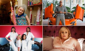 From clockwise: Honey Boo Boo, Dwayne Johnson in Ballers, Rebel Wilson in Isn't It Romantic and ABBA.