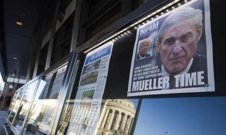 Newspaper front pages from around the nation are on display at the Newseum in Washington DC.