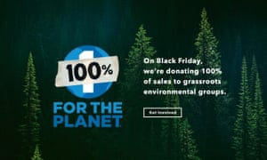 Patagonia's Black Friday homepage