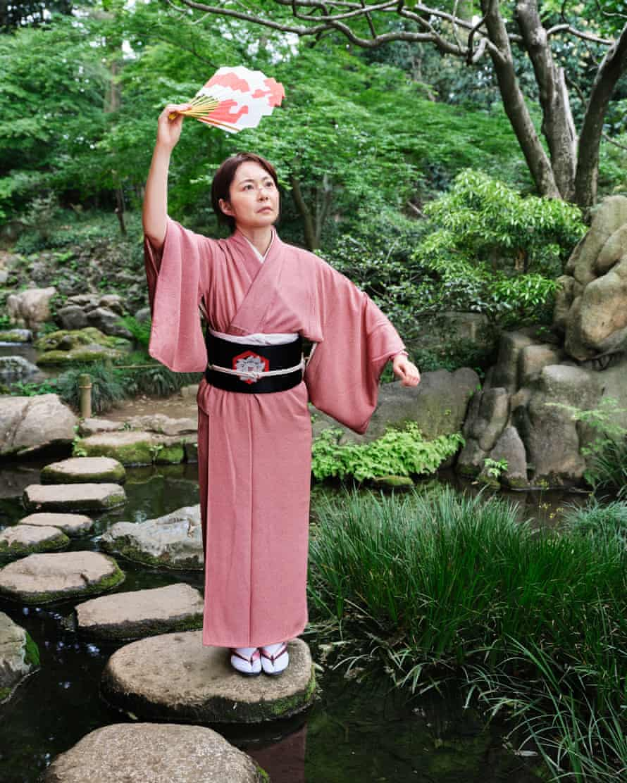 Yuko Atarashi, studying to be a Noh theatre actress in Tokyo, in traditional Japanese dress