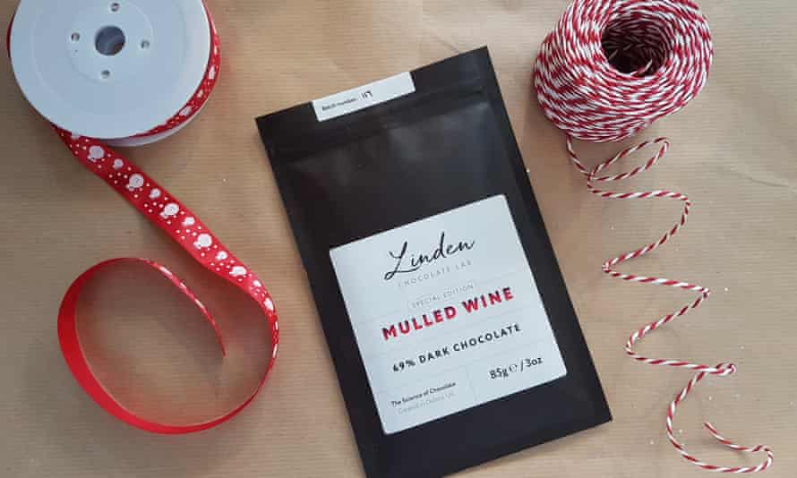 Warm heart: Linden's Mulled Wine 69% Dark Chocolate turns a festive tipple into a real luxury