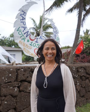 Annette Rapu Zamora, the first Easter Island woman to run for Chile's house of representatives.