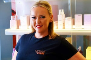 Nikki Evans owner of The Boutique Hair & Beauty at Heyford House in Cullompton, Devon.