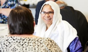 Aklima Akhter at the first session of a course run for ordinary local people to learn and debate everyday economics, held at Inspire church community centre in Levenshulme, south Manchester.