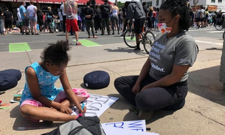 'Really tired and fed up': George Floyd protesters demand action on racism