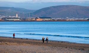 Swansea Bay in South Wales.