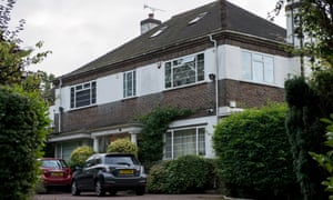 The family home of Keith Vaz in Stanmore, London, on Sunday.