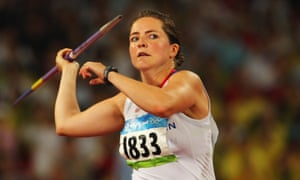 Goldie Sayers competes in the javelin at the Beijing 2008 Olympic Games where she finished fourth behind Russia's Marita Abakumova, who has since been banned for doping offences.