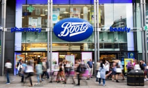 Boots the chemist on Oxford Street.