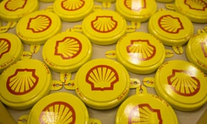 Shell branded yellow oil drum seals