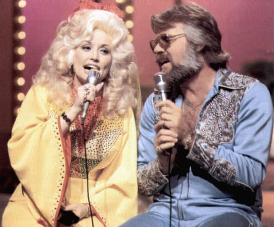 Kenny Rogers and Dolly Parton, the king and queen of country.