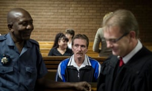Alex de Koker in Vereeniging regional court, Johannesburg, 16 April 2015. He was sentenced to 20 years for murder and five for child abuse.