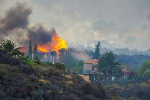A house burning