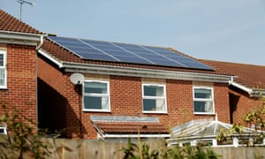 Solar panels on a house in Southampton