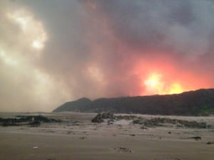 The fire at Nelson Bay