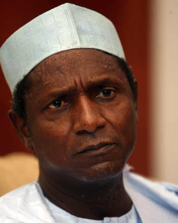 Nigeria's former president Umaru Yar'adua before he passed away in May 2010.