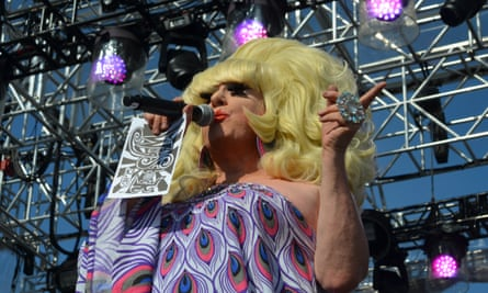 Lady Bunny, drag queen, comic, activist and original founder of Wigstock in the eighties.