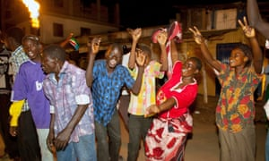Young people celebrate South Sudan's one year anniversary in 2012. A brutal civil war erupted just one year later.