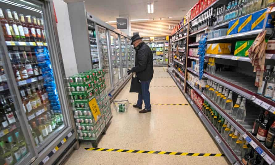A shopper in a supermarket in central London