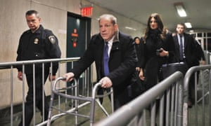Haryve Weinstein departs New York City criminal court on 21 January.