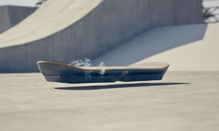 Lexus Slide hoverboard being tested at a purpose-built skatepark in Barcelona, Spain.